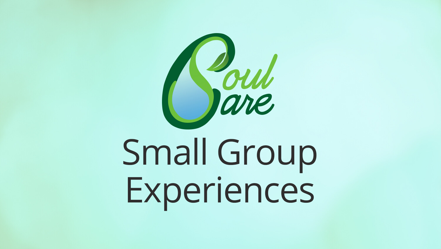 Soul Care Small Group Experiences Registration