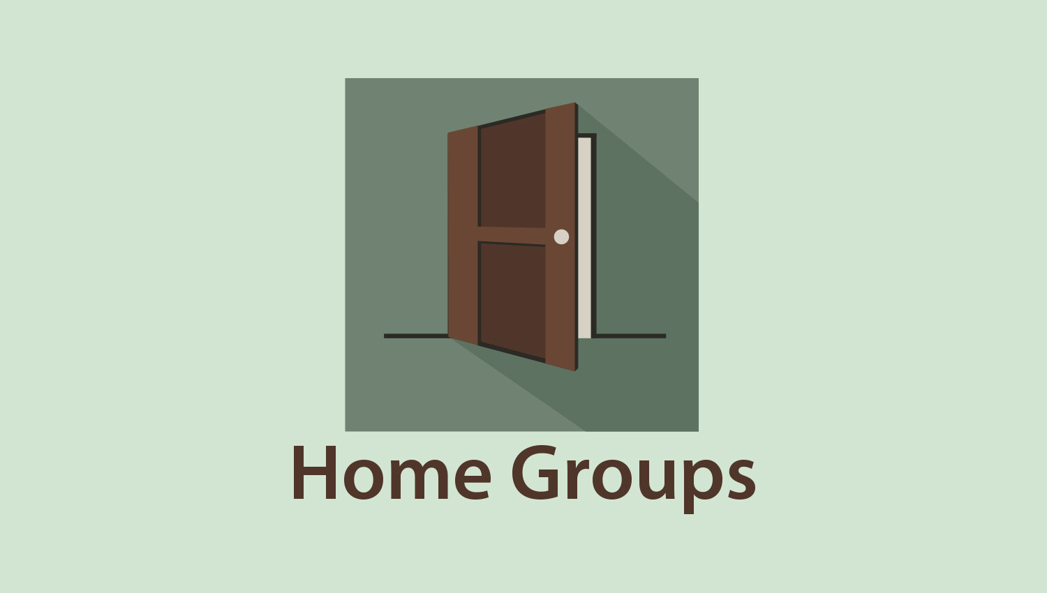 Home Groups Registration