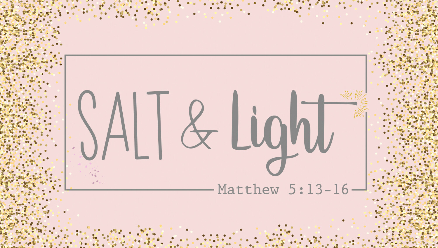 SALT AND LIGHT WOMEN'S CONFERENCE