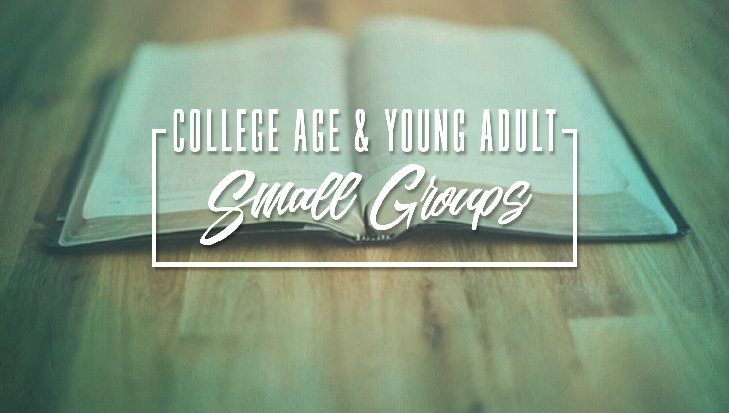 Home & Small Group Opportunities for Young Adults