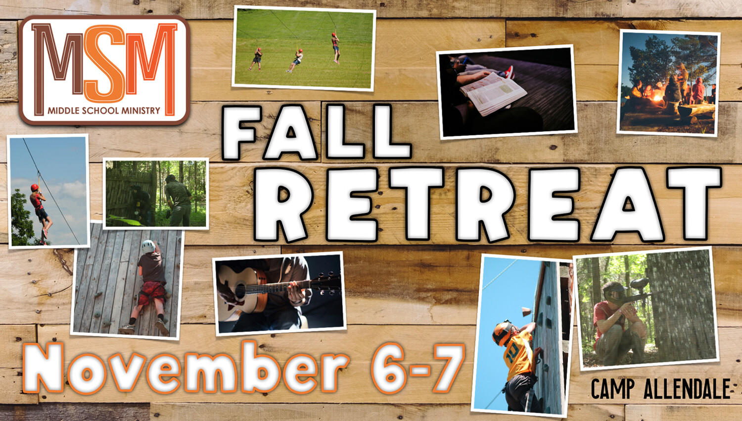 Middle School Ministry Fall Retreat